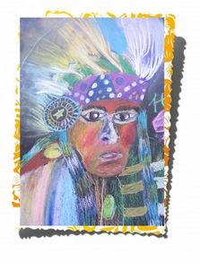 印第安人面部油彩