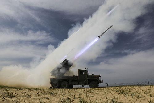 组图韩国陆军第8兵团九龙火箭炮实弹射击训练