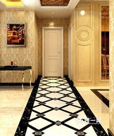 过道地面拼花怎么设计好看 地砖选择与风格要一致