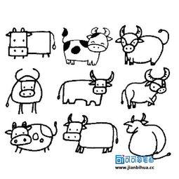 关于牛的简笔画 2
