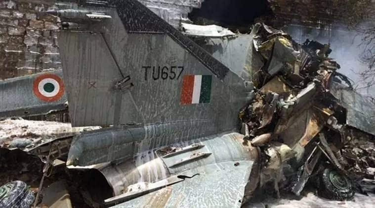 资料图:印度空军坠机照片