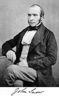英国内科医生约翰斯诺(1813-1858)