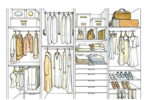 衣柜里衣服颜色怎么挂