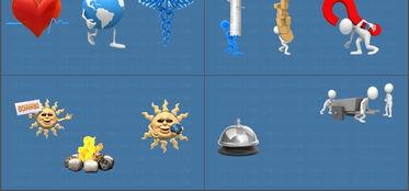 3D小人卡通动画GIF图片素材PPT模版模板下载 33.28MB 信息图表大全 图形图表