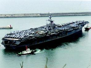 """3月13日,""""约翰·斯滕尼斯""""号核航母抵达韩国釜山港。"""