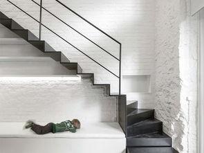 复式白色简约楼梯设计图片-2018简约木制阁楼楼梯图片 房天下装修效...