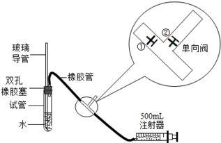 244*375图片:so2是大气污染物之一,为粗略测定周围环境中so2的含量,某课外活动小组设计了如下实验装置 注 单向阀原
