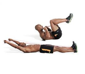 在家训练,这十一种弹力带动作,真正一平米健身  弹力带训练方法胸部