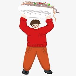 吃货大胖子面食代言人卡通插画图片素材 其他格式 下载 动漫人物大全