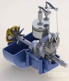 发动机工作原理教学3D模型