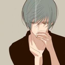 男生二次元吸烟的头像动漫伤感 吸烟系列男生动漫头像