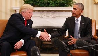 奥巴马与特朗普握手(图:cnn)