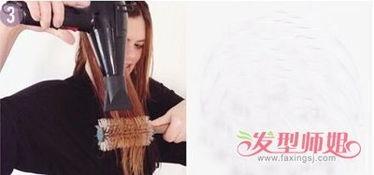 圆筒卷发梳怎么用图解
