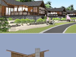 别墅园林建筑设计图下载 图片33.72MB 建筑模型库 SU模型