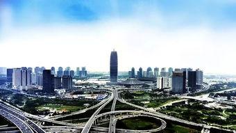 航拍郑东新区