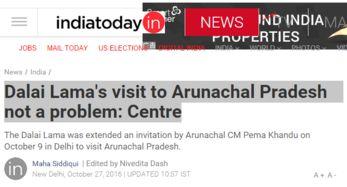 再挑衅 印度政府同意达赖窜访伪 阿鲁纳恰尔邦
