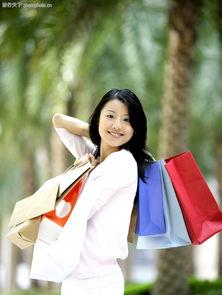 时尚购物0002 时尚购物图 休闲保健图库 购物 纸袋 欣喜