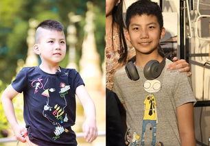 胡军12岁儿子康康近照,身高超妈妈变小伙,对比儿时变化明显