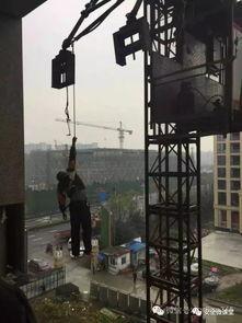 杭州一工人塔吊失足悬挂20多米高空