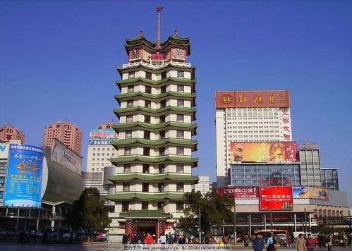 二七塔二七广场郑州二七塔郑州中心二七大罢工纪念塔郑州市繁华