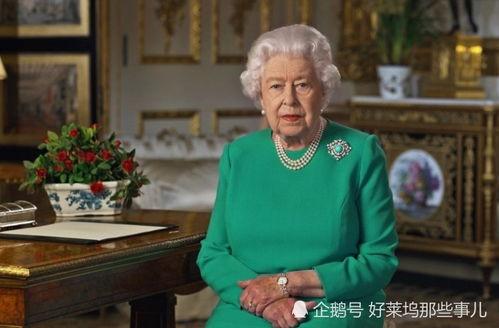 英国女王在温莎城堡发表讲话。