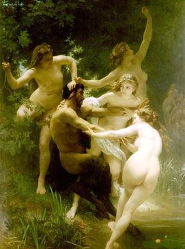 阿道夫 威廉 布格罗 森林之神与仙女们