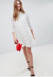 Asos 夏季新款 女生半袖气质连衣裙