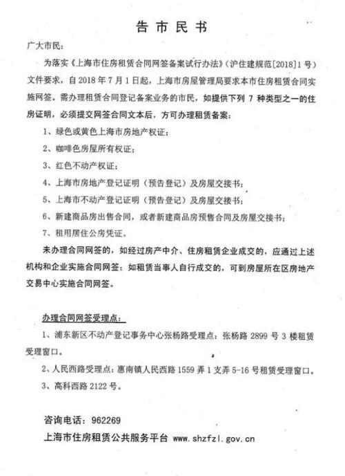上海租赁合同网签备案材料及流程一览