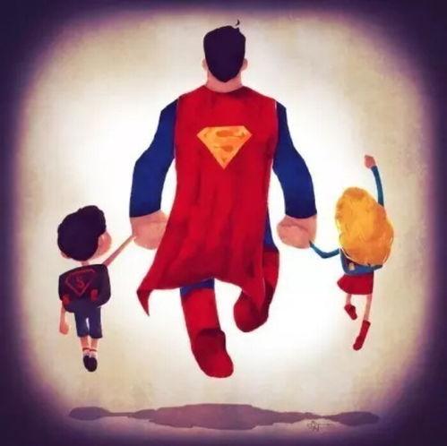 爸爸是我的超级英雄父亲节快来卡通壁纸堆糖,美图壁纸兴趣社区