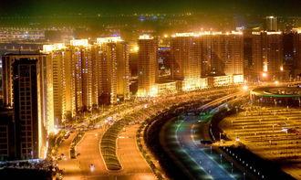 郑东新区夜景璀璨