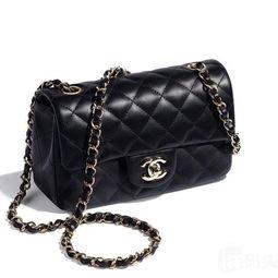 Chanel 香奈儿女包 Mini CF黑色金链 菱格纹 斜挎包 单肩包