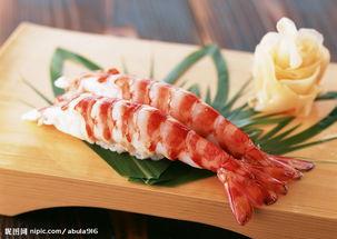虾子握寿司图片