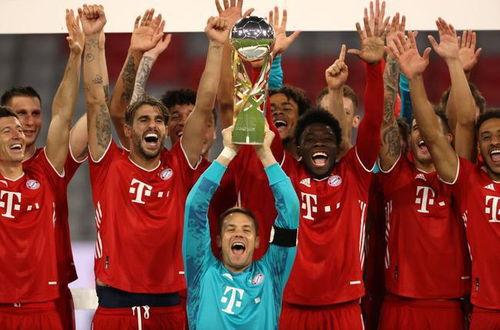 德国超级杯,拜仁绝杀多特加盟五冠王10月1日凌晨,第11届德国超级杯在安联球场打响,拜仁3比2绝杀多特蒙德,艰难赢得了德国杯冠军.