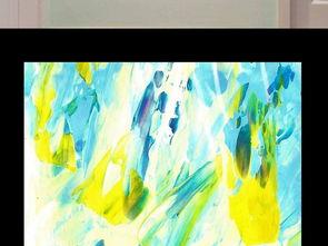 黄蓝色调抽象油画艺术玄关背景装饰画图片素材 效果图下载 立体玄关大全 油画 绘画编号 16551012