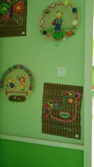 幼儿园 环境 布置 墙面 布置 废旧材料 作品展 师