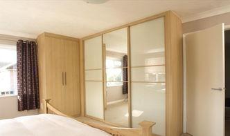 卧室玻璃衣柜大全2014