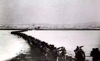 中国人民志愿军跨过鸭绿江开赴朝鲜前线