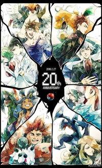 口袋妖怪 20周年贺 日本众绘师献上精美贺图