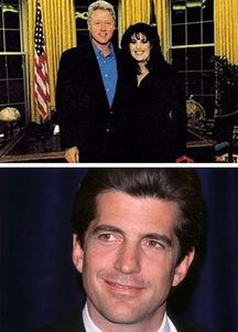 ...克林顿,下图为肯尼迪之子小约翰·肯尼迪.[资料图片]-与克林顿缘...