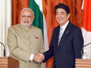 印度总理莫迪和日本首相安倍晋三.