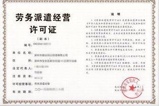 劳务派遣经营许可分公司申请书