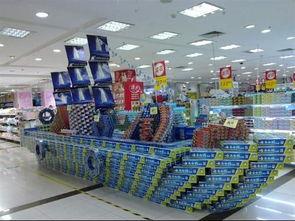 超市创意堆头陈列图片