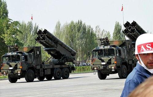 中国出口土耳其的ws-1火箭炮