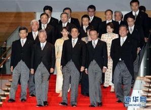 日本首相安倍晋三改组内阁