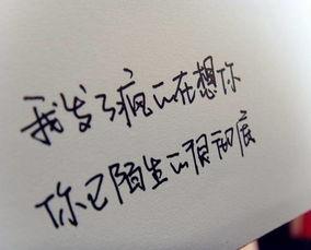 一些关于爱情的手写文字 我怀念的是无话不说