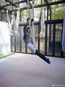 女神刘涛晒高难度空中瑜伽照,身姿曼妙,美的犯规