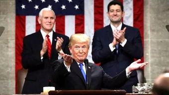 特朗普在国会发表国情咨文演说.