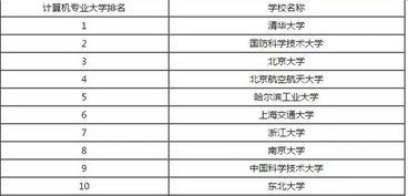 中国有哪些有计算机专业的大学排名 大学教育