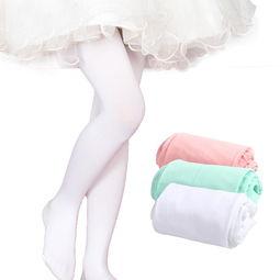 巴布豆 Bobdog 女童天鹅绒连裤袜薄款高弹儿童舞蹈袜小学生春夏季打底裤白色丝袜 蜜芽