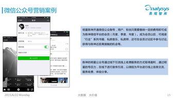 微信公众号营销案例分析